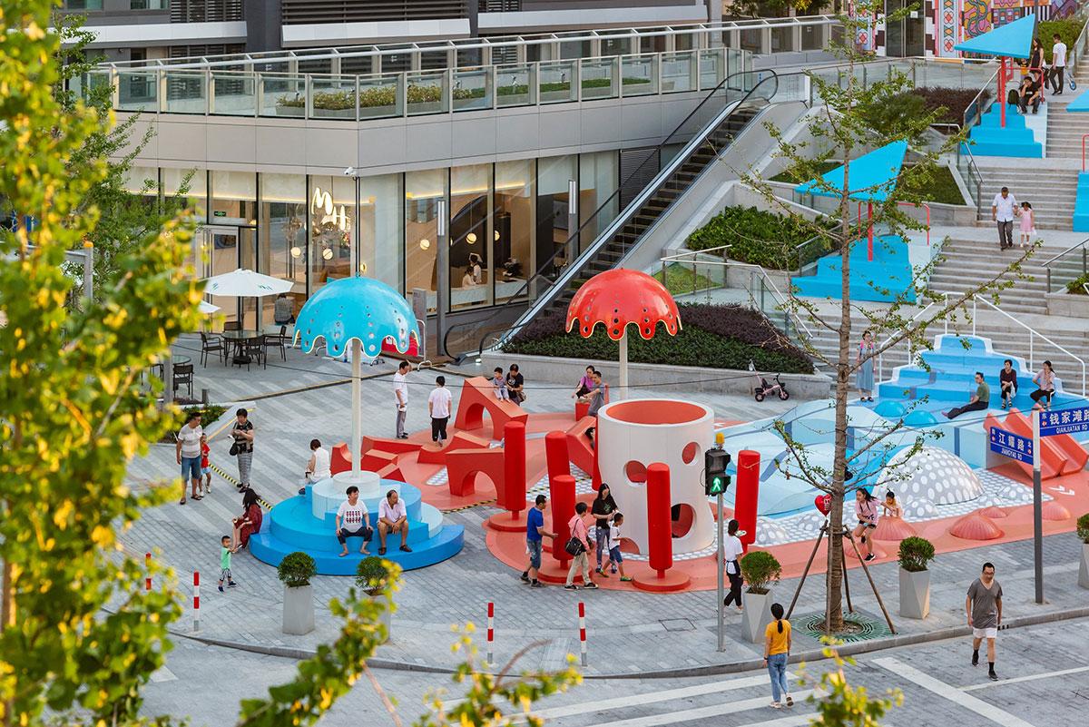 给游客带来更多娱乐和社交互动的商场美陈设计竟这么富有创造性