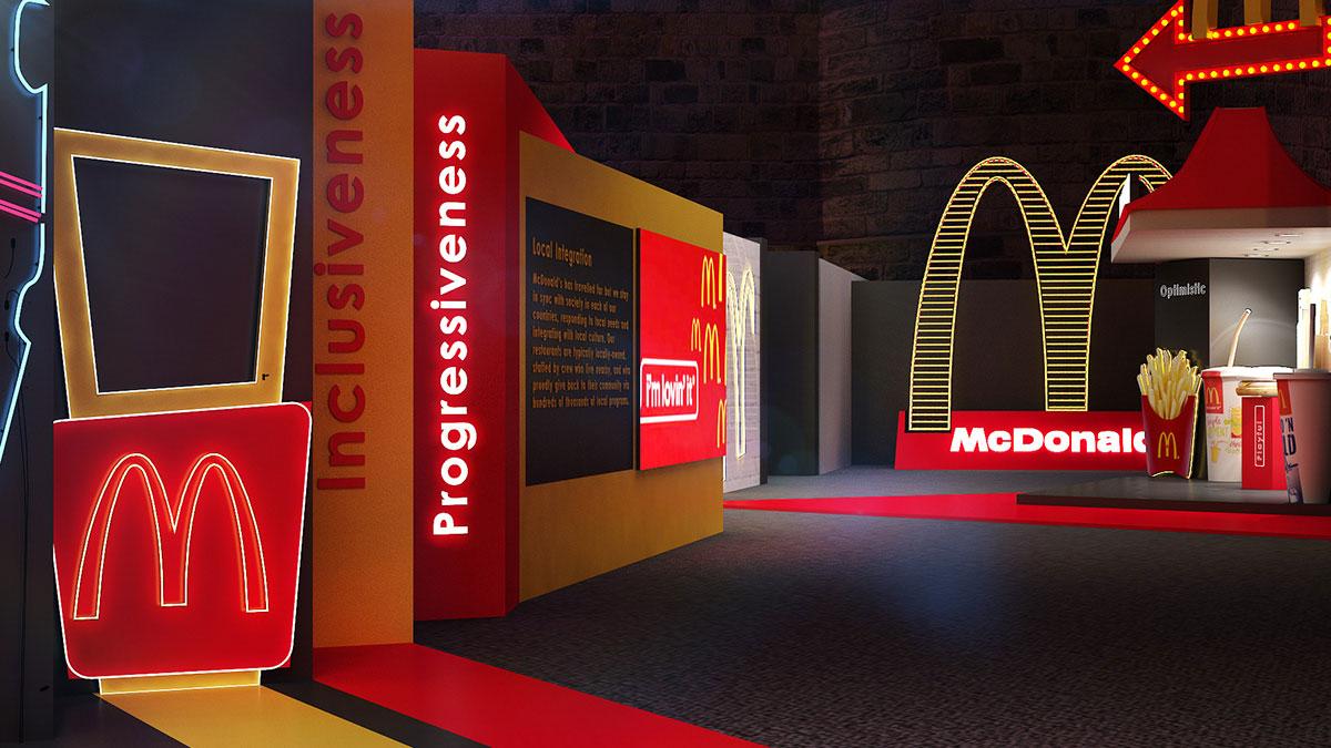 麦当劳的25周年庆典演出活动真的是耗巨资打造出来的,身份的象征传递得很到位