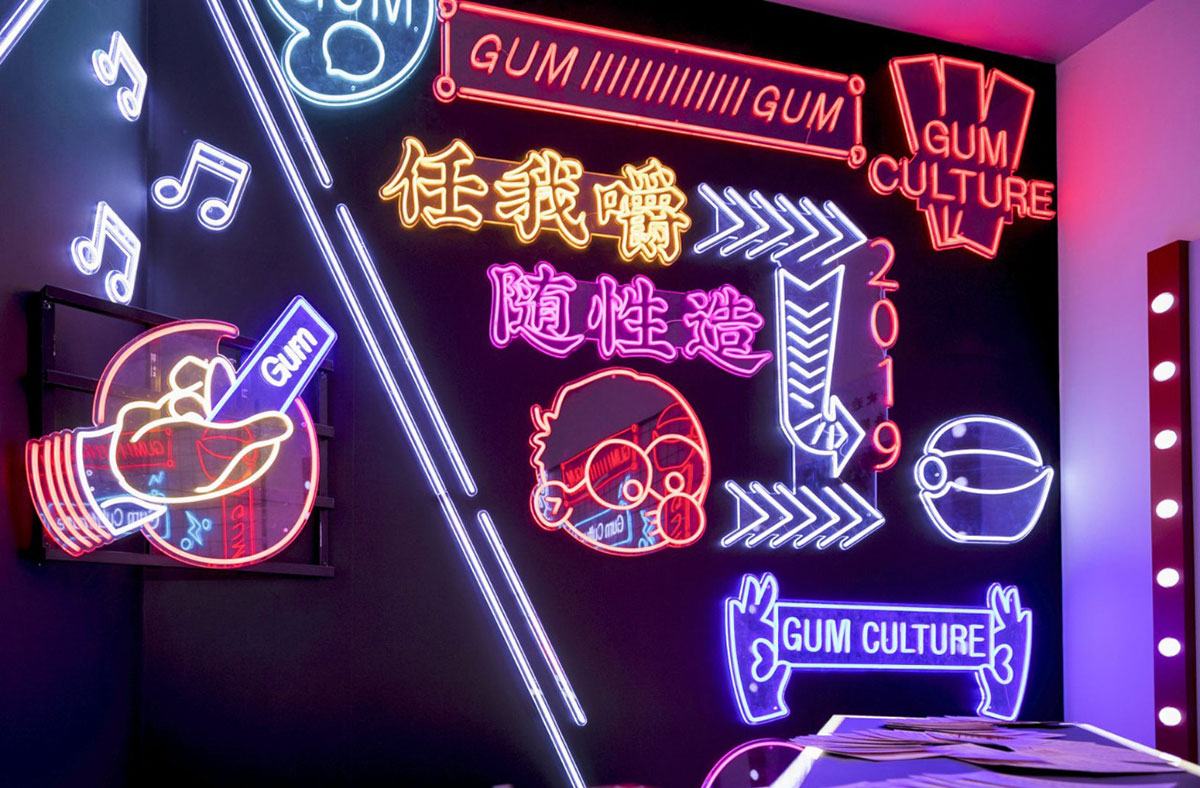 口香糖快闪店也能集合梦幻与潮酷嘻哈,这是年末最火爆的快闪店吧