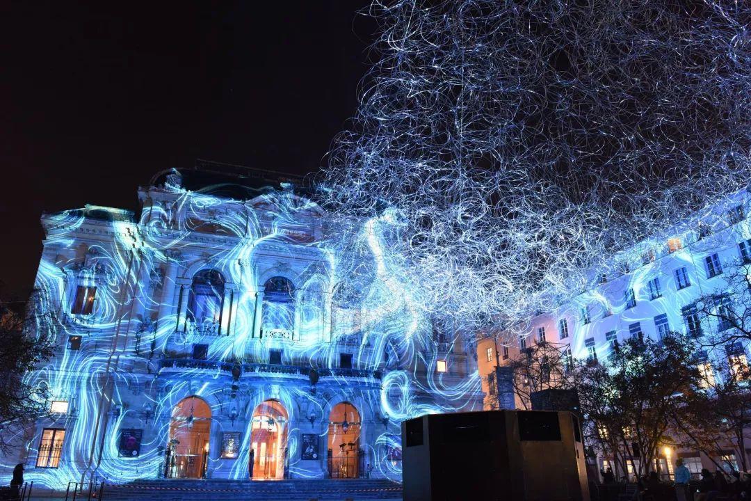 法国里昂灯光节的这批灯光艺术作品简直要逆天了,太美了