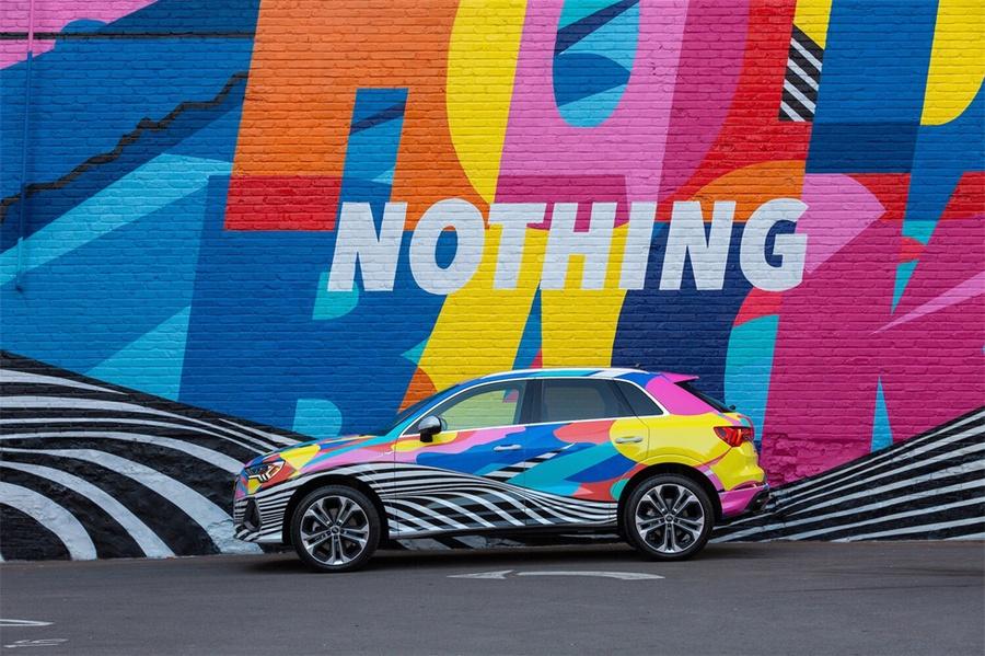 Q3媒体活动以一面街头特色壁画拉开了各种试驾体验活动,酷酷酷