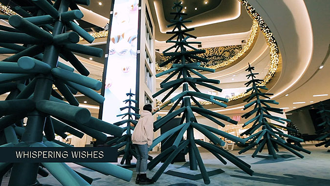 圣诞美陈变成了许愿森林,仿佛逃进了一片神奇的林地