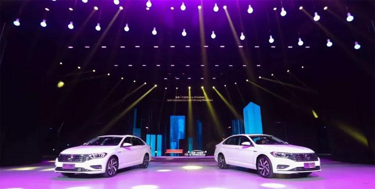 全新一代速腾Long-Wheelbase 上市发布会把都市都搬上舞台了