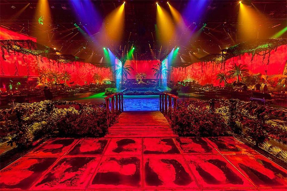 国潮年会策划的另一种创意呈现形式:丛林式年会派对