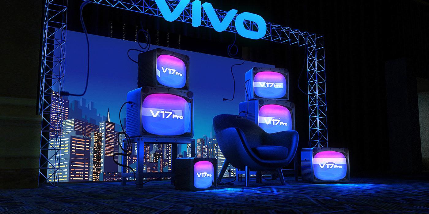 VIVO快闪展览活动展厅设计美轮美奂不愧为大厂