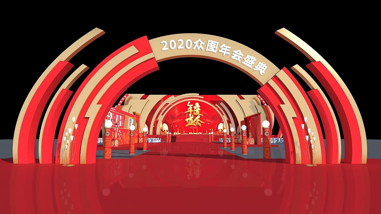 新年好新年好!中国红的年会策划也是超吸睛的!