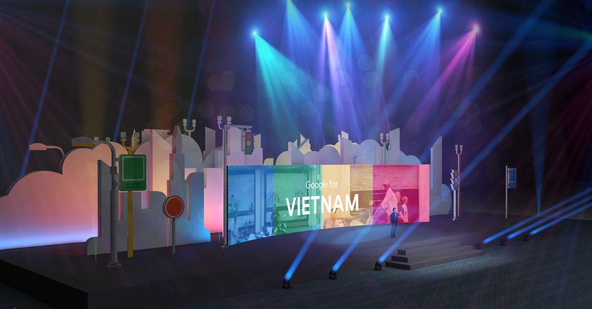 谷歌在越南的这场年会设计上互动性也很强呐