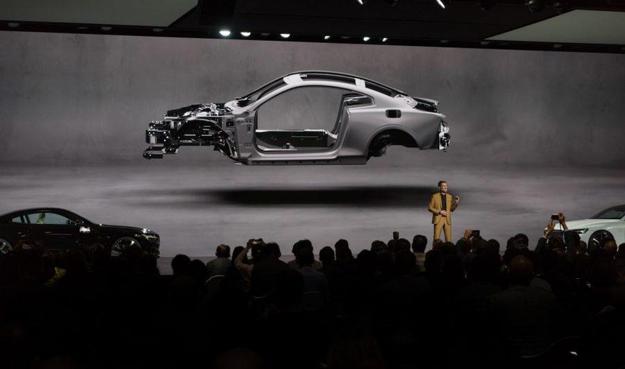 """全新独立品牌用一个""""盒子""""就打造了强大视觉识别的汽车发布会活动"""