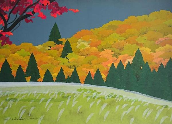 97岁艺术家这次的绘画展览活动真的是把刺激颜色运用得太美轮美奂了
