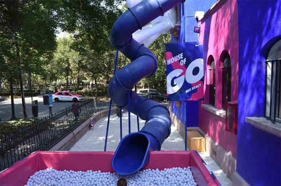 体验式发布会活动策划了一条旋转滑梯,瞬间童年感爆棚