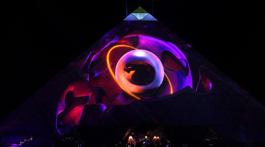 多媒体投影映射庆典活动首次在25米高的金字塔上亮相了