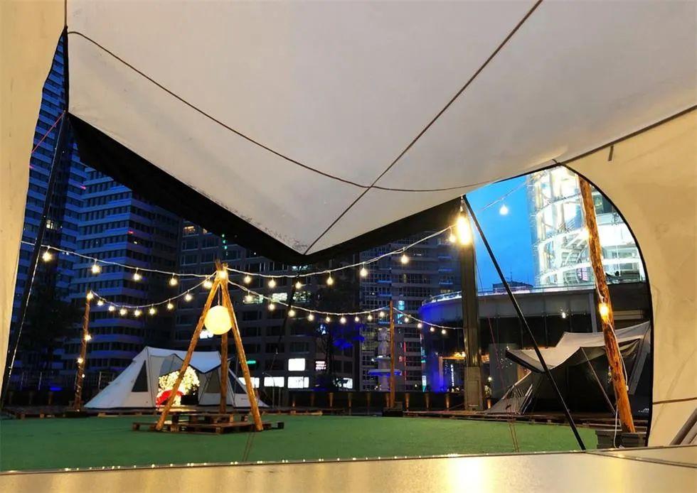 台北嘉年华活动策划的帐篷露营,不外出就能享受的欧美风格