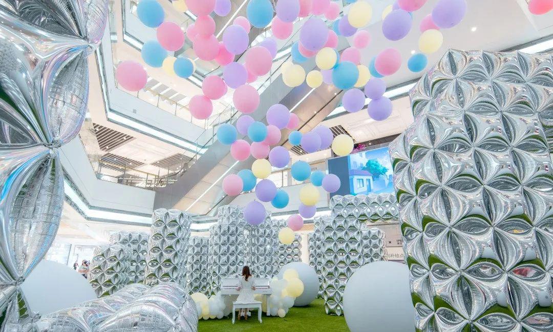 魔都气球艺术展览活动策划的这波告白气球,撒得有点欢甜