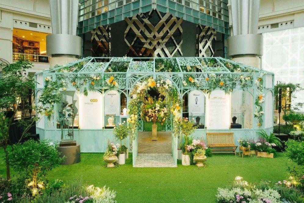 台北101主题花卉创作艺术展览活动秒变当代美学策展场域