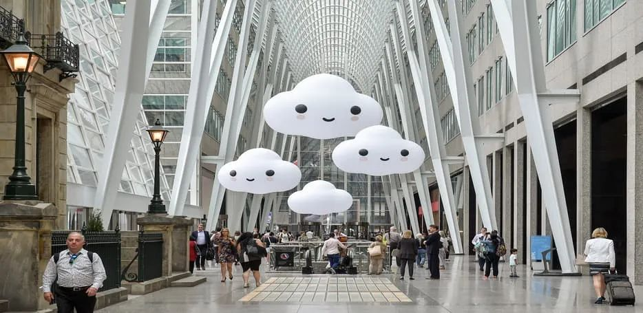 纽约布鲁克菲尔德广场展览活动策划的装置设计话题讨论度真高