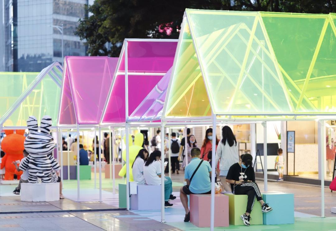 夏日彩虹艺术展览活动装饰颠覆你对夏日的全新认知