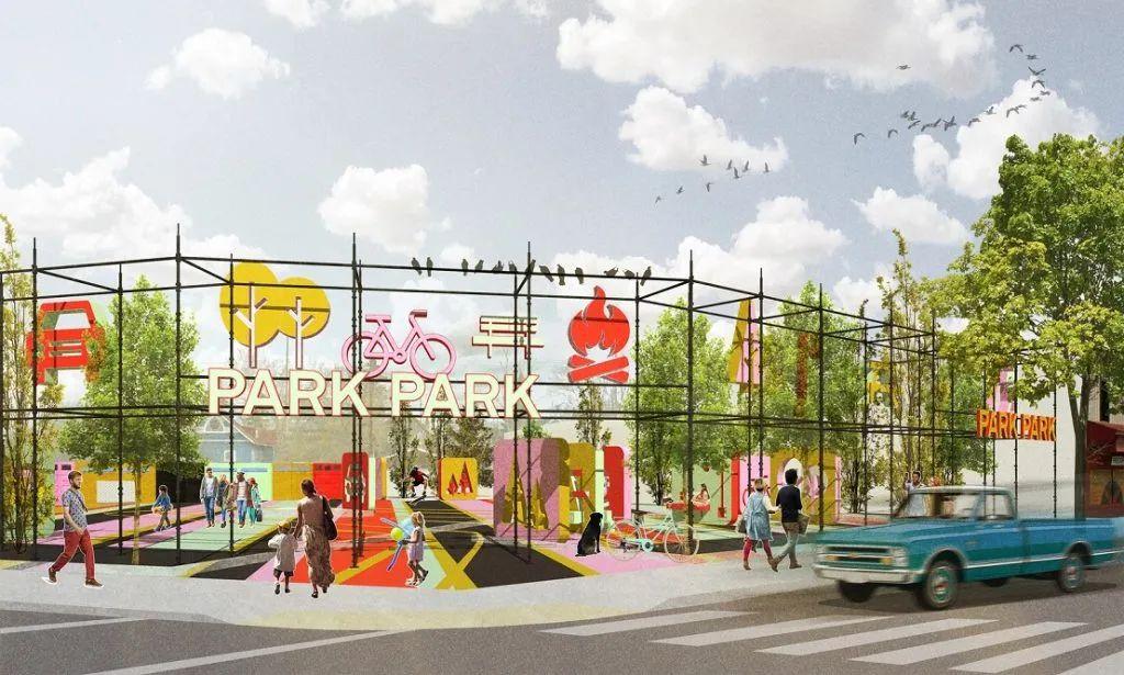 颠覆城市空间的公共展览活动策划装置多了几分欢乐韵味