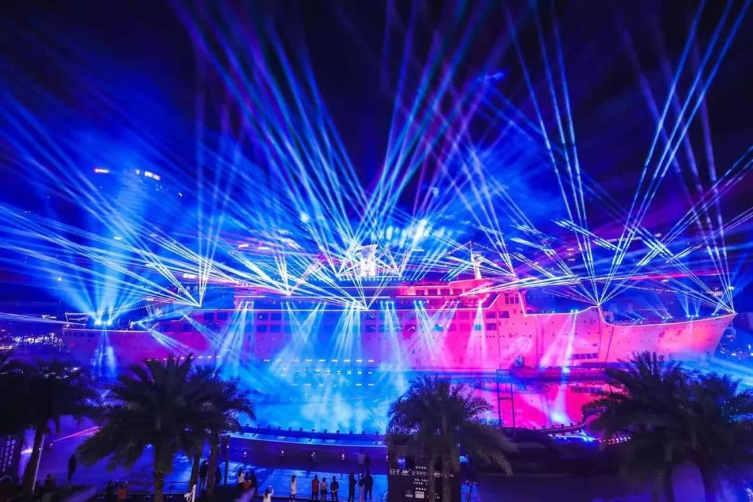 深圳海上世界3D灯光秀活动策划直接在170米超大型海上邮轮惊艳上演
