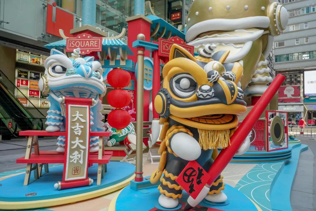 「金狮舞动贺新岁」新春商场展览活动策划的醒狮气势超雄伟