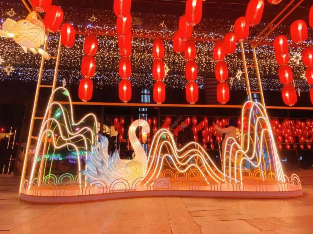 「鱼你同乐幸福年」新春灯会活动策划还原中国山水画的禅意与现代