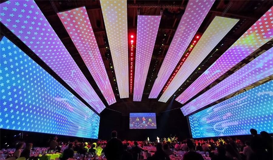 3240平方的投影面积,电力集团这次员工内部会议活动策划杠杠的