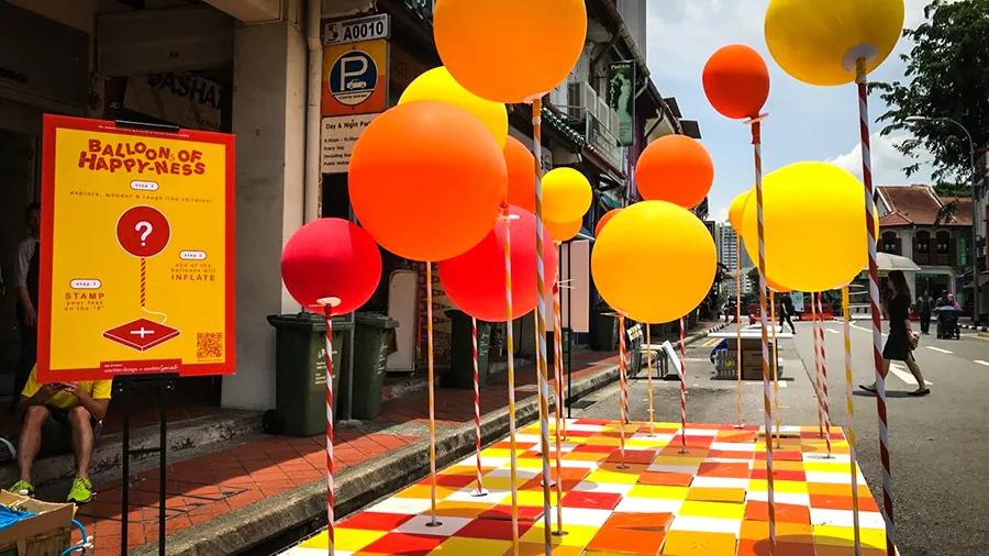 气球丛林「Stamp To Smile」快闪活动策划总让你惊喜不断,步履不停