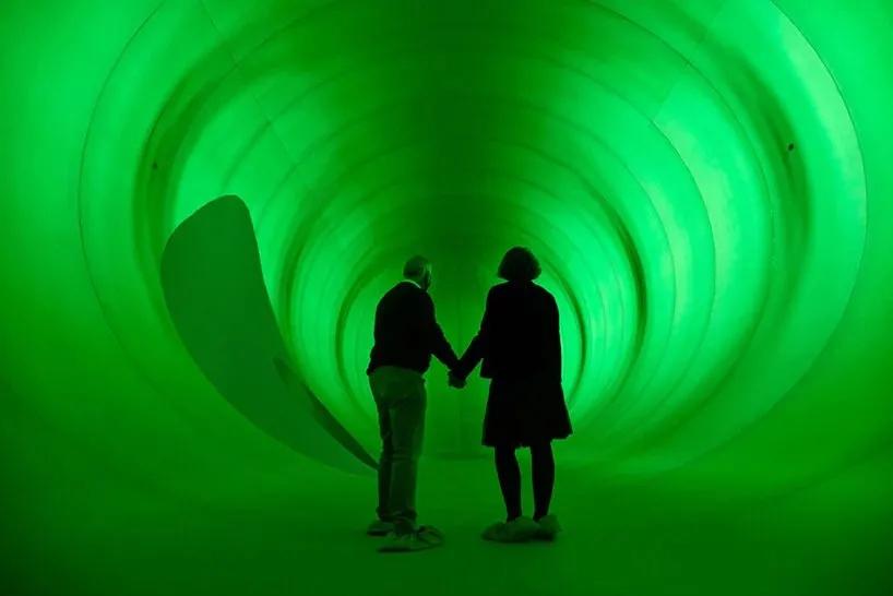 霍夫曼全新「绿茧」充气艺术活动策划的装置寓意着世界最后会战胜疫情