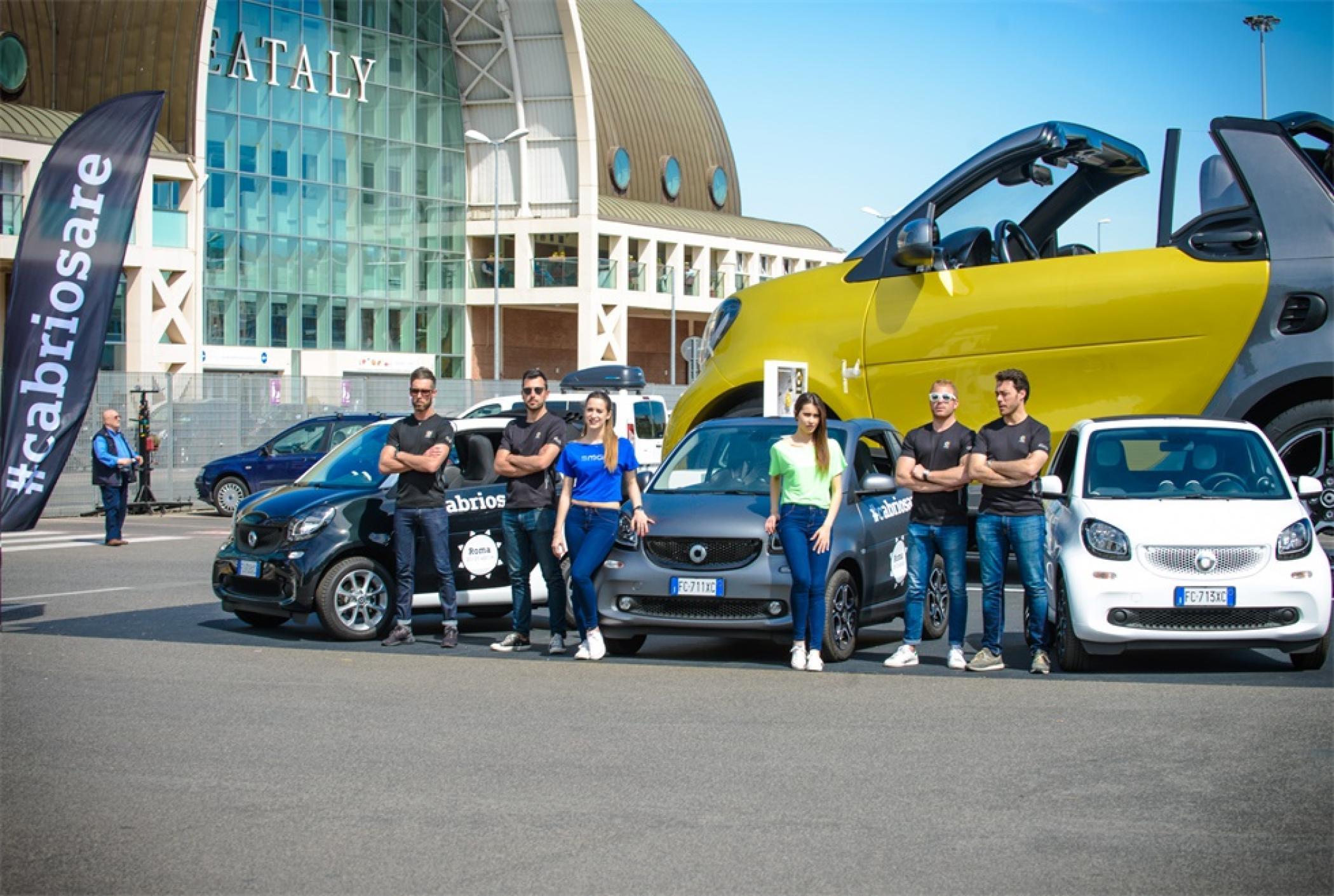 奔驰smart快闪式推广活动策划用两年造出了5米高的庞然大物forfun3,霸气